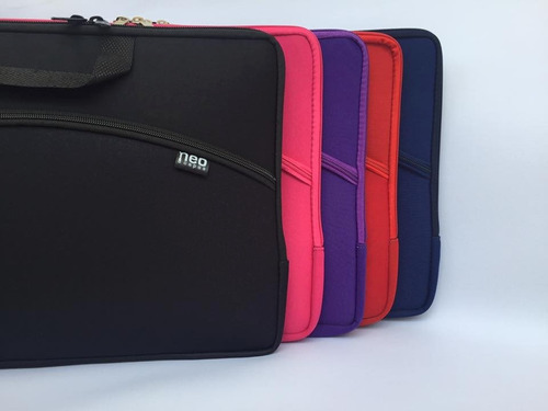 capa case p/ notebook c/ bolso externo 17.3  neoprene