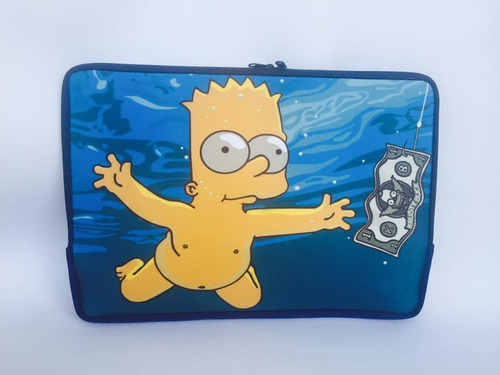 capa case p/ notebook simpson bart personalizada 11 13 14 15