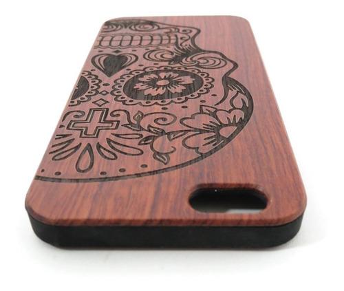 capa case para iphone 6 caveira em baixo relevo