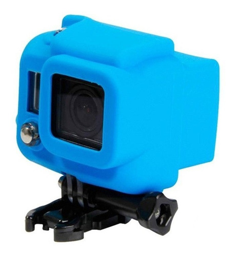 capa case protetora silicone gopro hero 3+ hero 4 serie