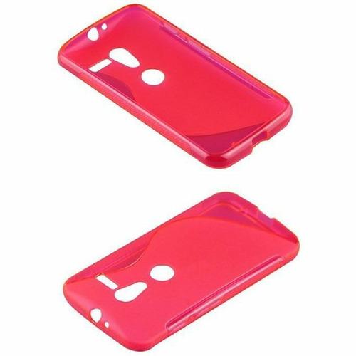 capa case s type para motorola moto x de tpu pink fluor