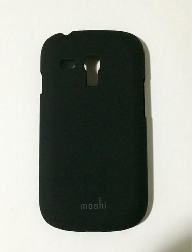capa case samsung s3 mini i8190 moshi preto acrílico fosco