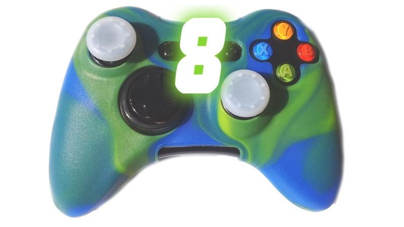 62576166eb44b Capa Case Silicone Controle Xbox 360 Capinha Protetora Camo - R  13 ...