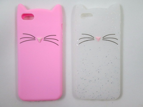 capa case silicone iphone 5 5s se 5c gato gatinho miu miau