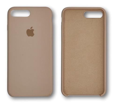 capa case silicone iphone 7 8 aveludada