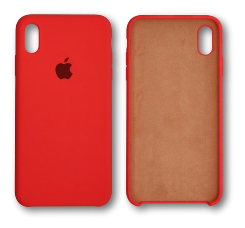 capa case silicone iphone xr aveludada
