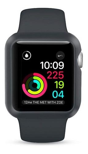 capa case silicone para apple watch + pulseira 38/40/42/44mm