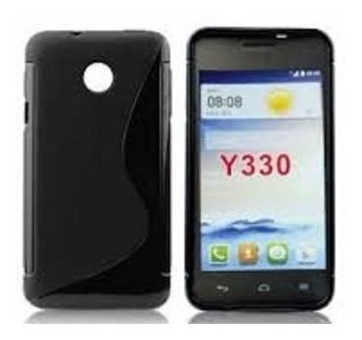 capa case silicone tpu huawei ascend y330 pelicula gratis