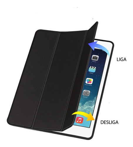capa case smart cover ipad 9.7 pro air apple pencil caneta
