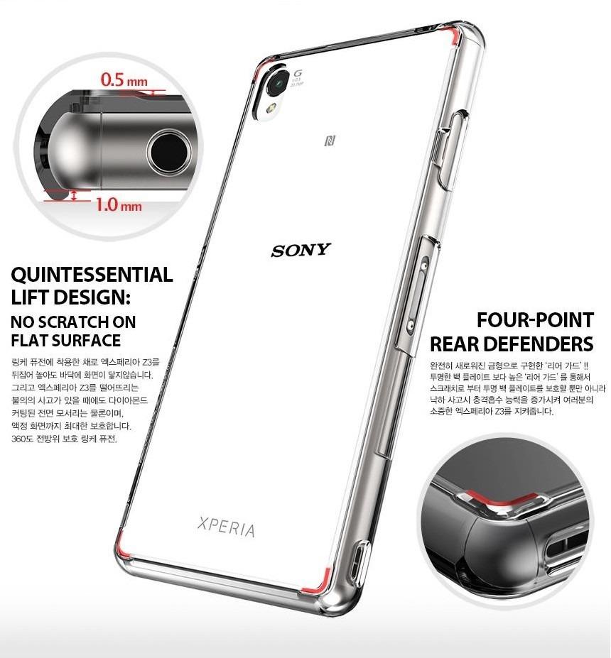 new arrivals 85d29 a7d96 Capa Case Sony Xperia Z3 Rearth Ringke Fusion 100% Original