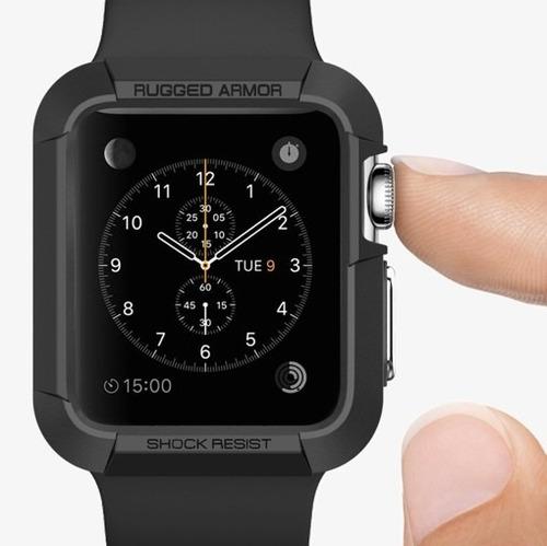 capa case spigen rugged armor apple watch 42mm series 3/2/1