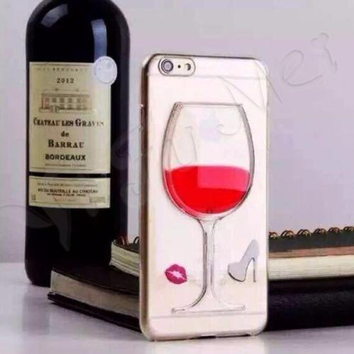 capa case taça de vinho iphone 6 plus + brinde! a melhor!