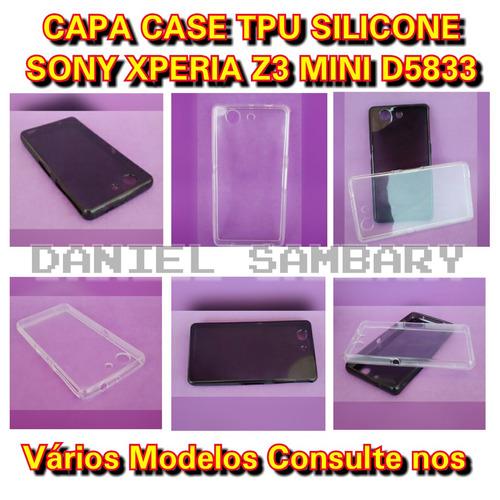 capa case tpu para sony xperia z3 d5833 silicone mega oferta