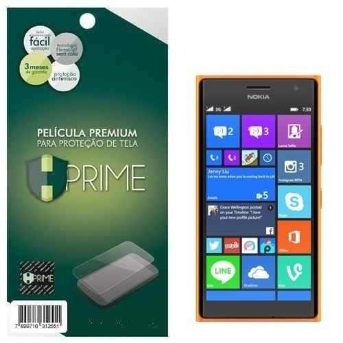 capa case tpu + película vidro temperado nokia lumia 730 735