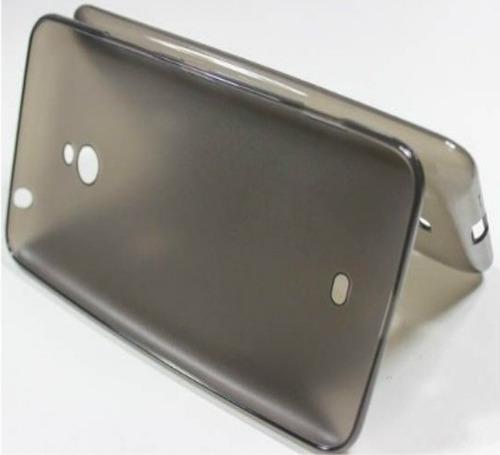 capa case tpu + película vidro temperado nokia lumia n1520