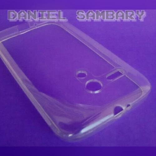 capa case tpu silicone fume +película de vidro moto g xt1033