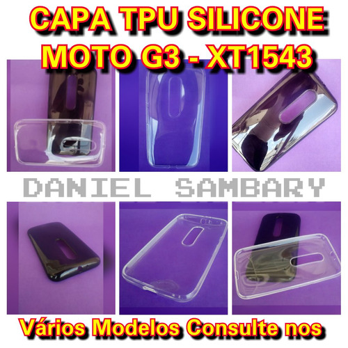 capa case tpu silicone para motorola moto g3 xt1543 promoção
