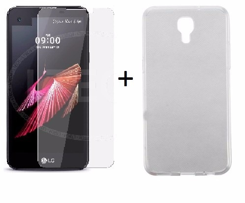 capa case ultrafina + pelicula  vidro lg x screen 4g k500