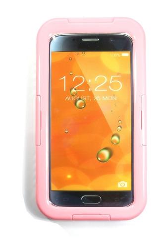 capa case waterproof samsung gálaxy s6 rosa - à prova d`água