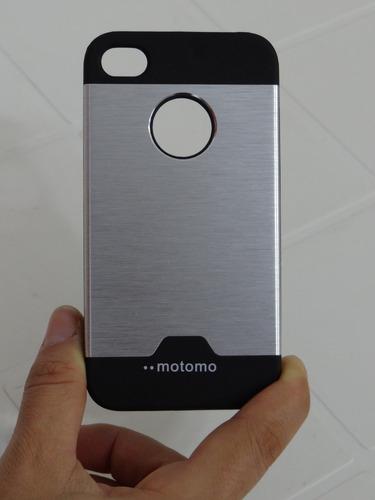 capa celular iphone 4s 4g -  case anti-impacto  + película
