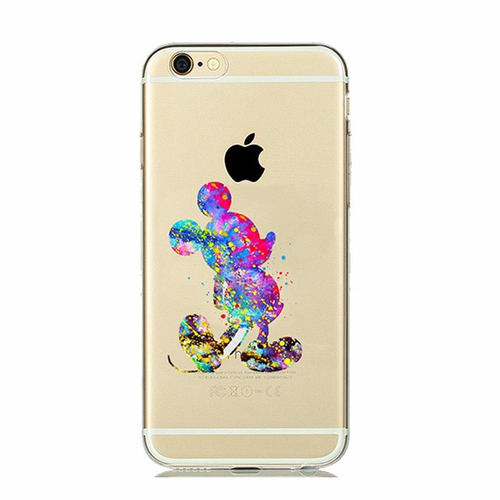 capa capinha celular mickey mouse silicone iphone 6 6s r. Black Bedroom Furniture Sets. Home Design Ideas