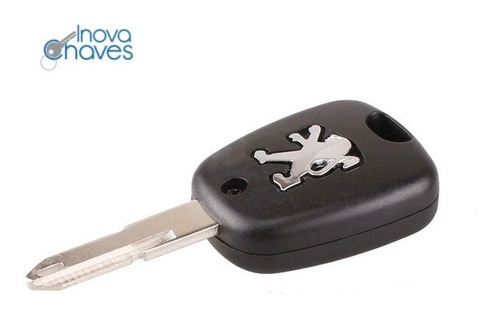 capa chave peugeot 206 207 c/ bateria e botões
