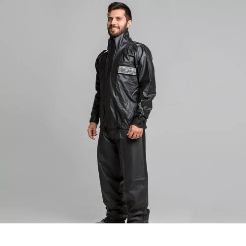 capa chuva motoqueiro pvc- california racing- g- guara motos
