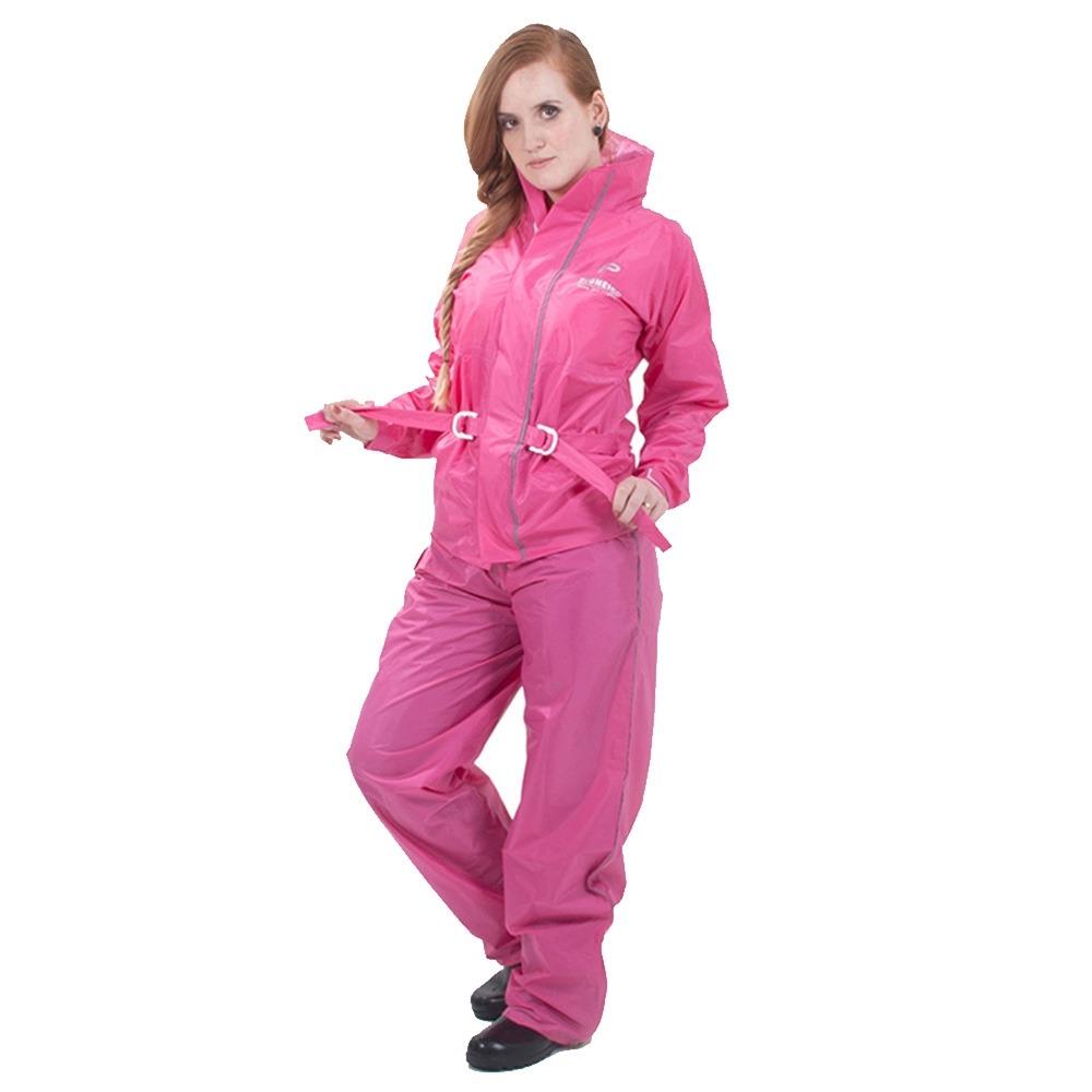 d5d71dc312f capa chuva pioneira nylon full feminina rosa capuz e bolso. Carregando zoom.