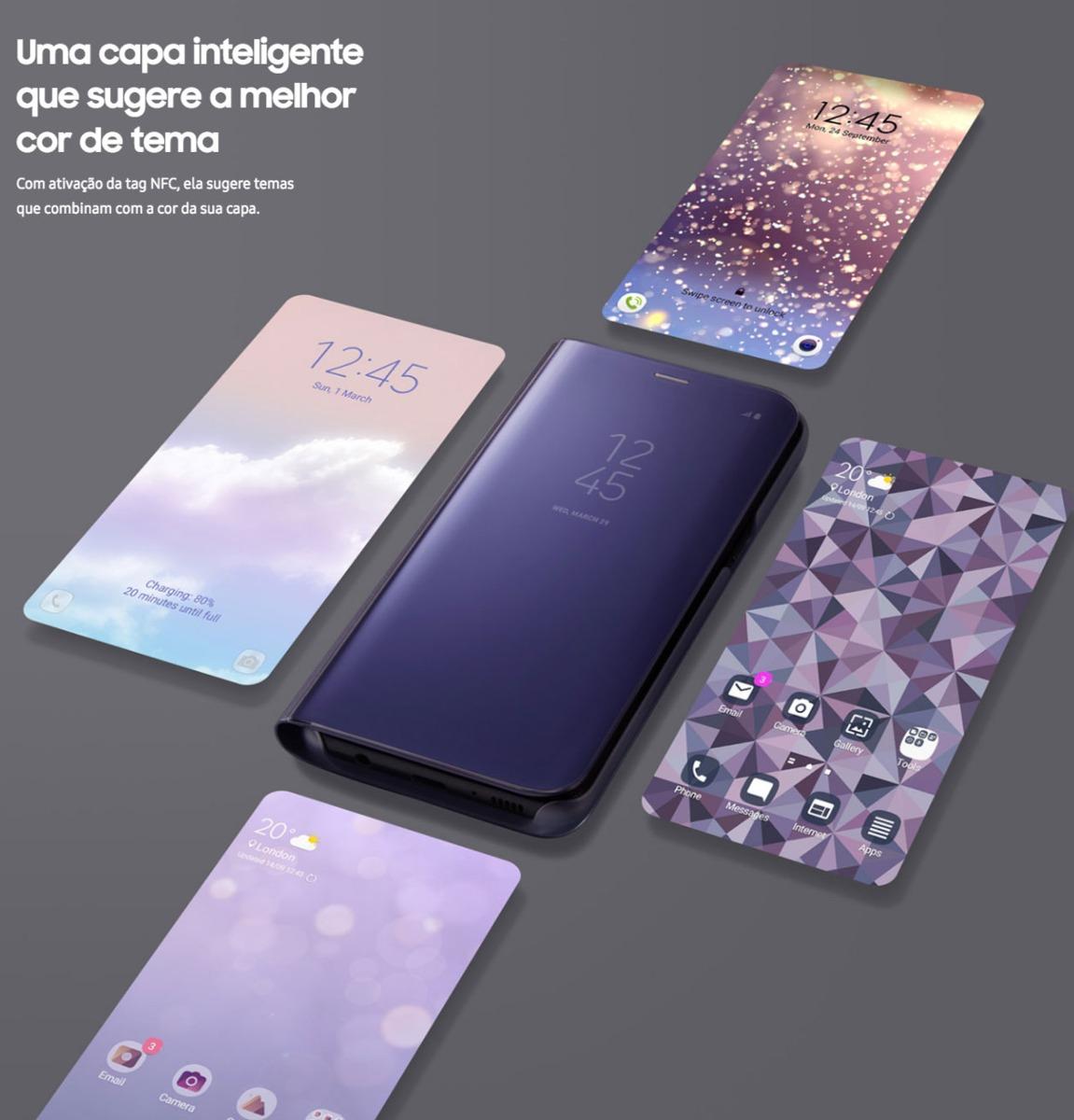 Samsung Galaxy S8 Plus Clear View Standing Cover Black Original4 Original Casing For Biru Case Gold Source Capa