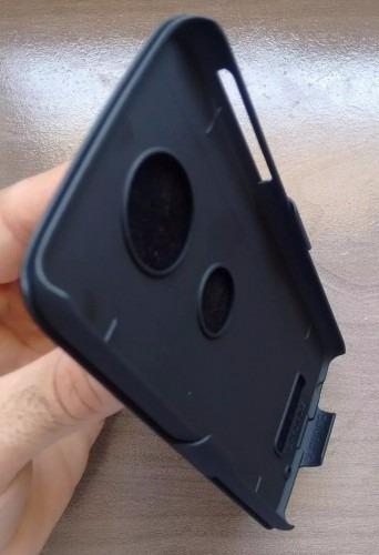 capa clip belt moto z2 play xt1710 case suporte cinto +vidro