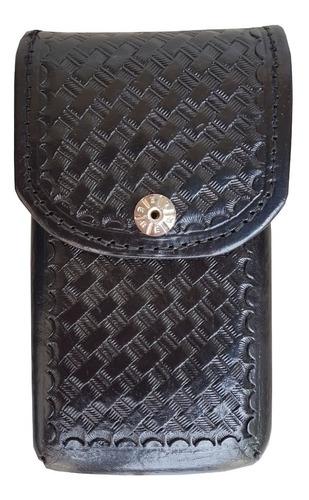 capa clip porta celular smartphone de couro para cinto