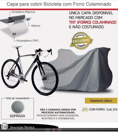 capa cobrir bike bicicleta ergometrica forrada
