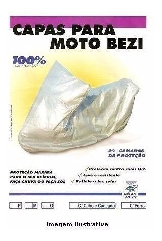 capa cobrir moto bezi 100% forrada impermeável p/ ybr 125