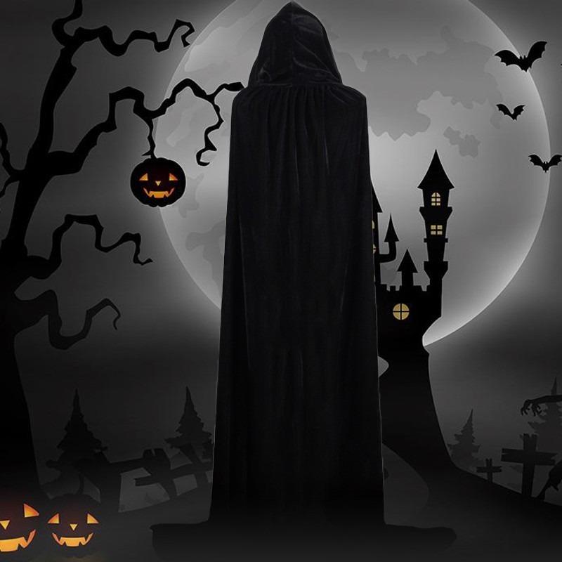 Capa Com Capuz De Halloween Bruxas De Veludo Princesa Morte R