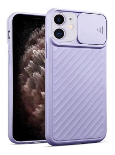 capa com proteção de lente para apple iphone 11 - lilás