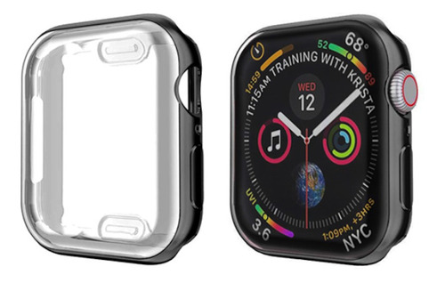 capa com proteção de tela apple watch 1,2,3 - 38mm - preto