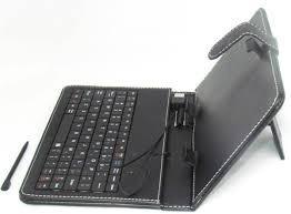 capa com teclado usb e caneta para tablet's 7.0