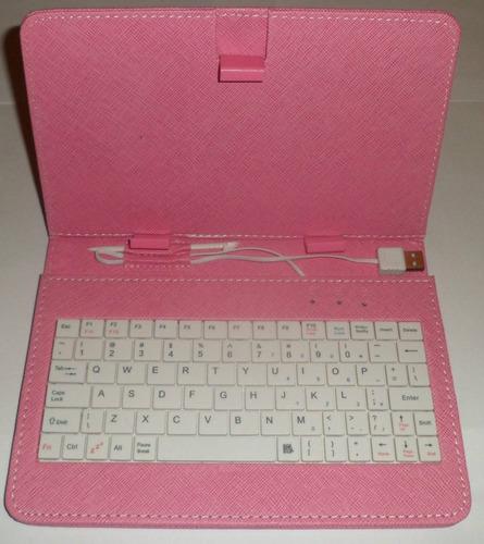 capa com teclado usb para tablet 7 polegadas
