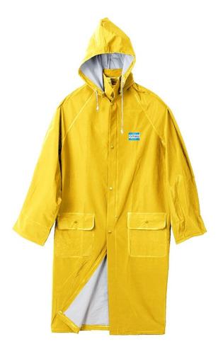 capa de agua lluvia ombú pvc 100% impermeable amarillo azul