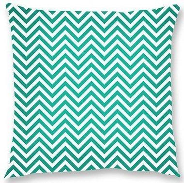 capa de almofada  chevron verde 45x45