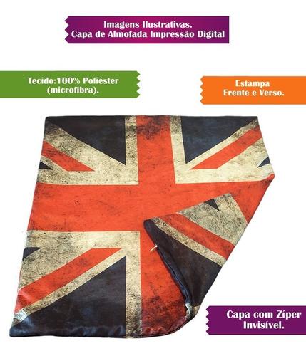 capa de almofada decorativa inglaterra bandeira 42cm r1