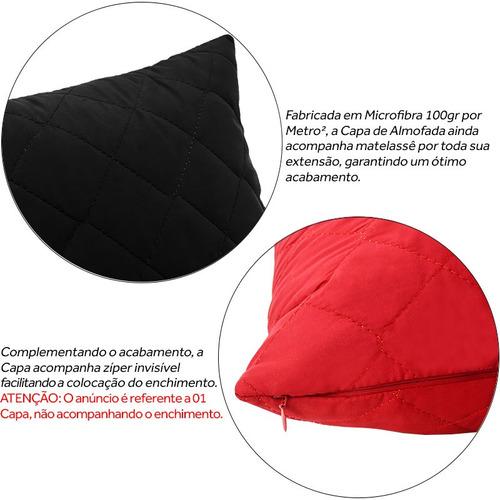 capa de almofada decorativa lisa microfibra 43x43 com zíper