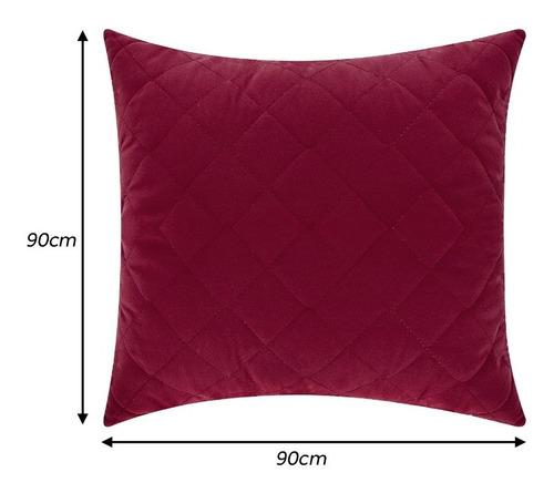 capa de almofada decorativa matelada 90x90 com zíper
