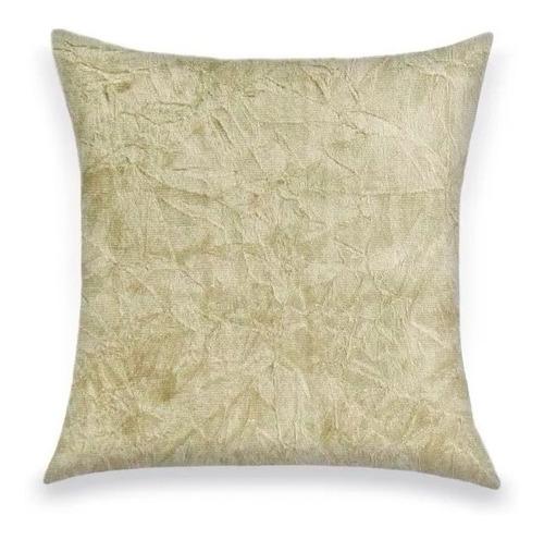 capa de almofada decorativa suede amassado marfim 45x45