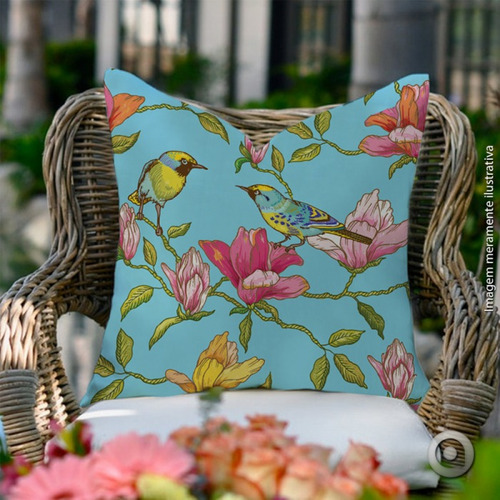 capa de almofada haus for fun birds flowers 04 40x40
