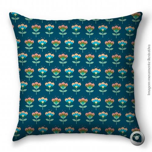 capa de almofada haus for fun floral colorido 02 40x40