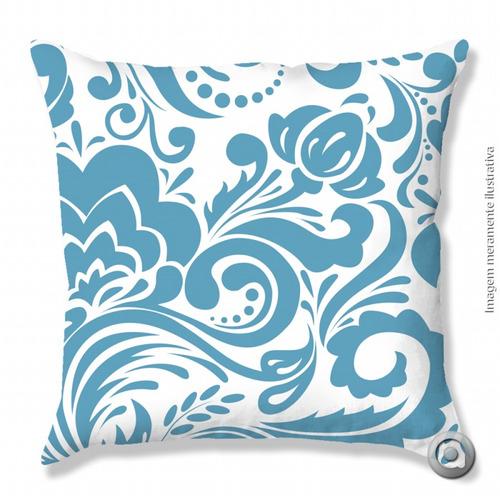 capa de almofada haus for fun floral grande azul 40x40