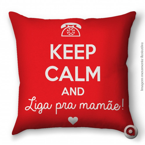 capa de almofada haus for fun keep calm maes 40x40