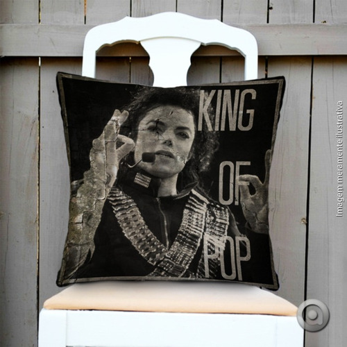 capa de almofada haus for fun king of pop 40x40