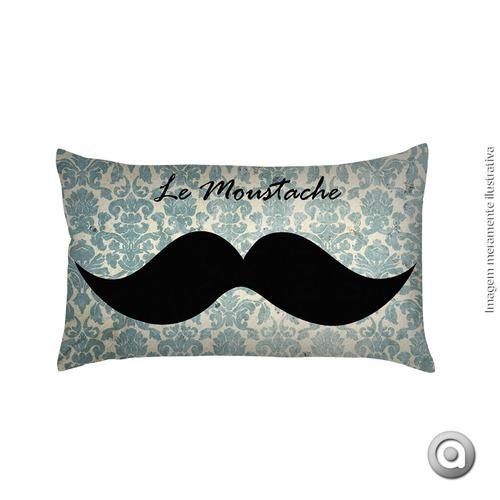 capa de almofada haus for fun le moustache 20x38